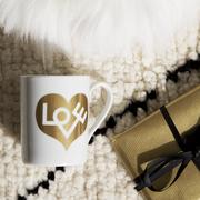 Tassen-Set mit Liebe