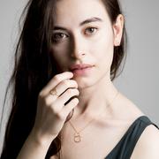 Zartschöne Halskette 'Doublering'