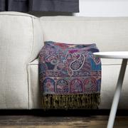 Kuschel-Wollplaid mit artisanalem Muster