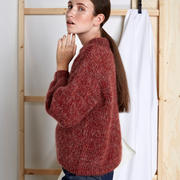 Weicher Pullover von 'Vivian Graf' in Red Mélange