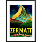 Gerahmtes Bild von 'Zermatt'