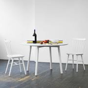 Runder Tisch 'Profile' in Weiss