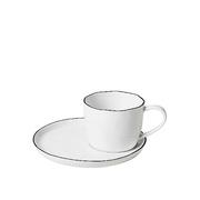 6er Set Tassen 'Salt' mit Unterteller