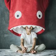 Haifisch-Winterschlafsack für Kids