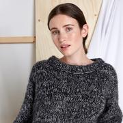 Kuschliger Pullover 'Emily' in Black Mélange