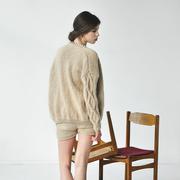 Nachhaltiger Woll-Cardigan in Handstrick