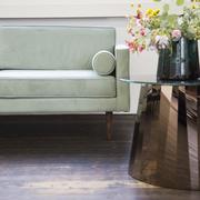 Sofa 'Wind' in Graugrün