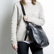 Hobobag von S&R in schwarzem Leder
