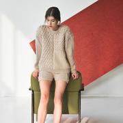 Strukturierter Strick-Sweater 'Heartbreaker'