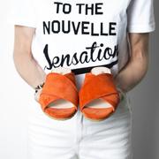 Sandale mit Keilabsatz von 'Angulus'