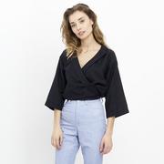 Feminine Cache-Coeur-Bluse
