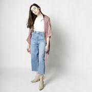 Kimono-Jacke in rosé von 'Claudia Nabholz'