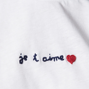 Handbesticktes T-Shirt 'Je t'aime'