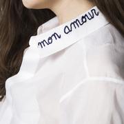 Handbesticktes Hemd von 'Côme Editions' in Grösse 36