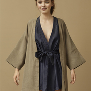 Kimono Jacke in Taupe von 'Claudia Nabholz'