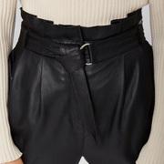 Wow-Stück: Lederhose mit hohem Bund