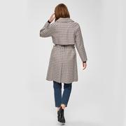 Karo-Trenchcoat aus Baumwolle