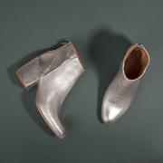 Wunderschöne Leder-Booties in Silber
