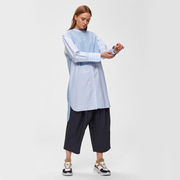 Puristisches Hemdblusenkleid aus Baumwolle