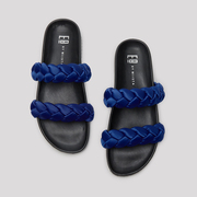 Slide-Sandale 'Luisa' in Blau