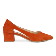 Sommerliche Pumps mit Cutouts in Orange