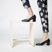 Squared-Toes-Pumps in Schwarz