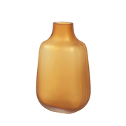 Kleine Vase 'Bjarke' in Orangegelb