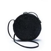 Runde Rattan-Bag zum Umhängen