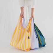3er-Set nachhaltige Taschen mit Streifen