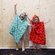 Hoodie-Tuch für Kids mit Ananasprint