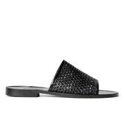 Slide-Sandale mit Flechtung