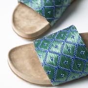 Coole Slide-Sandale in Grün