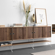 Grosses Sideboard 'String' in Holz