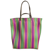 Die grosse 'Market Bag' grün/pink