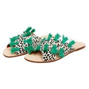 Coole Animal-Sandale mit Quasten