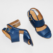 Tolle Leder-Sandale 'Vita' in Blau