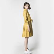 Nachhaltiges Blusenkleid in warmem Senfgelb