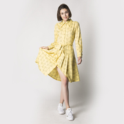 Jolly Dress Sunshine Eye Print