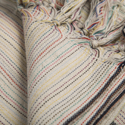 Baumwolltuch mit farbigen Streifen