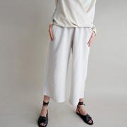 Sommerliche Culotte in Weiss