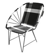 Geflochtener Stuhl 'Schwarz-Weiss'