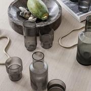Trinkgläser 'Ripple' in Rauchglas
