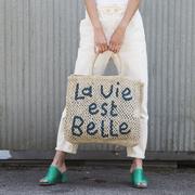 Handgearbeiter Shopper  'La vie est belle'