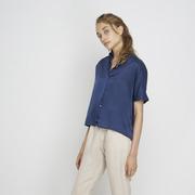 Bluse 'Tona' in Nachtblau