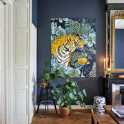 2in1 Wandbild 'Tiger Jungle & Toucan Family'