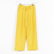 Nachhaltige Leinenhose in tollem Gelb