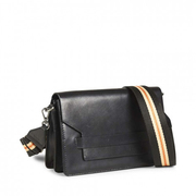 Schwarze Crossbody-Bag mit Textil-Strap