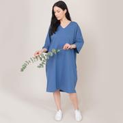 Nachhaltiges Kleid im Tunika-Stil
