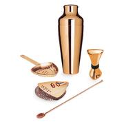 Kupferfarbenes Cocktail-Set