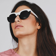 Statement-Sonnenbrille 'Pacifica White & Black'